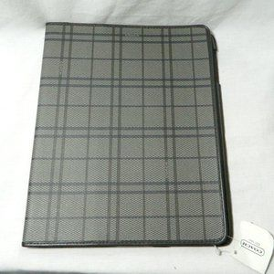 Coach $148 62124 iPad Case Gray Plaid NWT